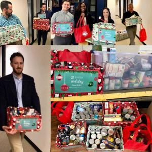 Holiday food drive donations